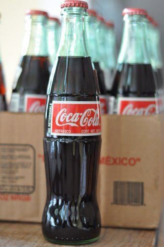 Coca Cola Coke Flower Glass Vase Bottle
