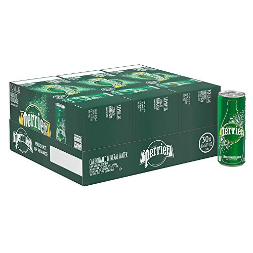 Perrier Carbonated Mineral Water, 8.45 fl oz. Slim Cans (30 Count) ()