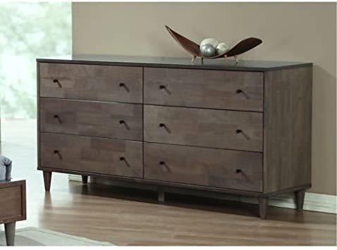 Vilas Light Charcoal 6-drawer Dresser. This Bedroom Furniture Features A  Solid And Durable Wood Construction. Each Drawer Offers Ample Space For All  ...