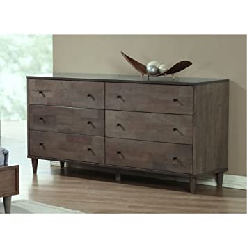 Vilas Light Charcoal 6 Drawer Dresser This Bedroom Furniture Features A Solid And Durable