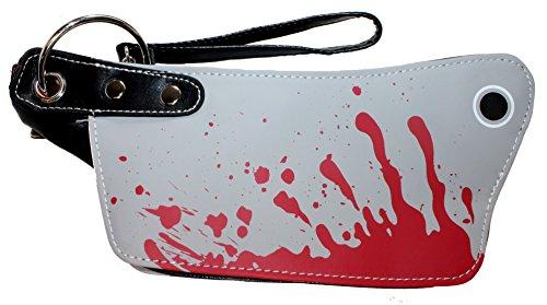 [Mini Bloody Cleaver Clutch Purse Halloween Handbag Kreepsville Horror Fashion] (666 Halloween Costume)