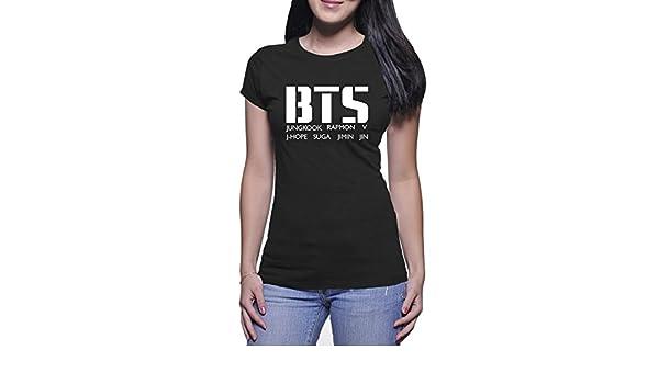 aa210cd9 Amazon.com: Bts Member Women T Shirt Black: Clothing