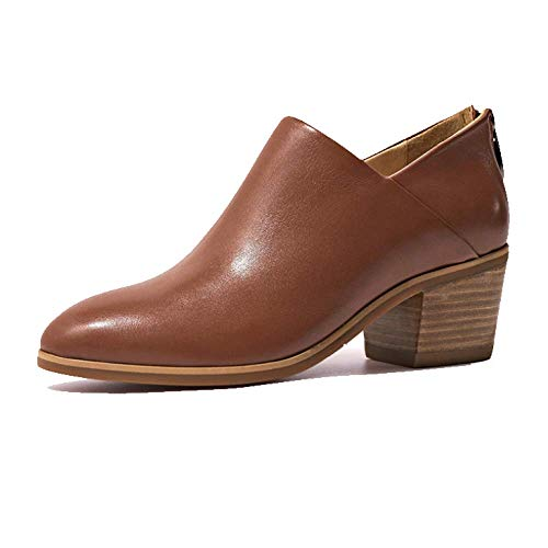 Bottines Brown Leather Zqzq Mode Pointu Slip Angleterre Yn8YHWfF