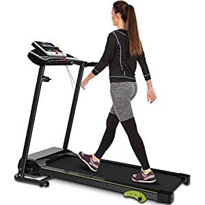 Well-Being-Matters 41qAT70kf%2BL._SS300_ Folding Treadmill Indoor Jogging Machine Cardio Training Walking Machine with Incline Sports Easy Assembly Ideal for…