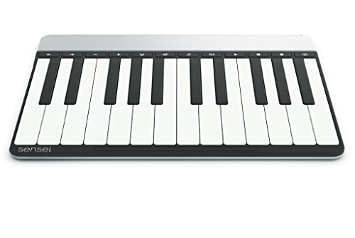 Piano Overlay for The Sensel Morph, a Multi-Touch, Pressure Sensitive Input Device with Swappable Overlays for Artists, Musicians, Video Editors and All Kinds of Creators (USB and Bluetooth)