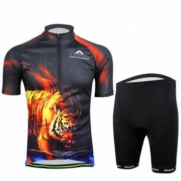 Bheema Radfahren Anzug Fahrrad Bike Wear Herren Hemd und Shorts Tiger