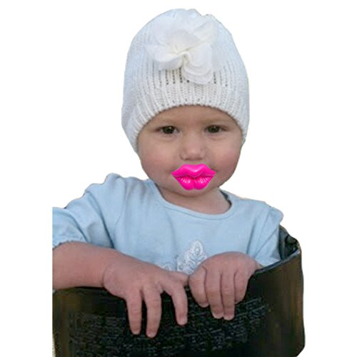 Mommy's Touch Pink Kiss Pacifier For Babies and Toddlers. Funny baby lips pacifier for girls (Pacifier Lips)