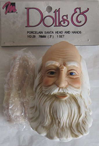 - MANGELSEN''S Craft SET of 1 PORCELAIN SANTA Doll HEAD 3