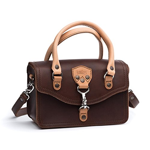 Saddleback Leather Satchel Purse – 100% Full Grain Leather Structured Satchel Crossbody Bag with 100 Year Warranty by Saddleback Leather Co.