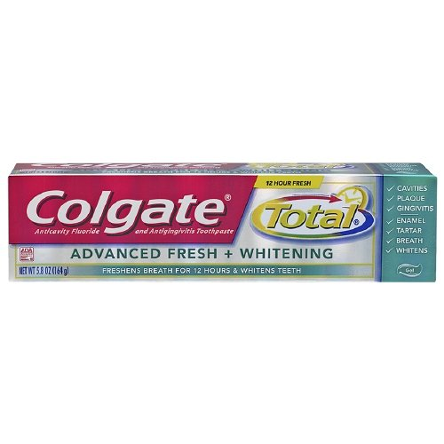Total Advanced Fresh Toothpaste (Colgate Total Advanced Fresh + Whitening Toothpaste, Fresh Gel, 5.8 Ounces (Pack of 3))