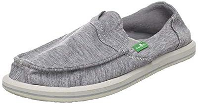 Sanuk Women's Pick Pocket Fleece Slip-On Loafer (39 M EU / 8 B(M) US, Light Grey)