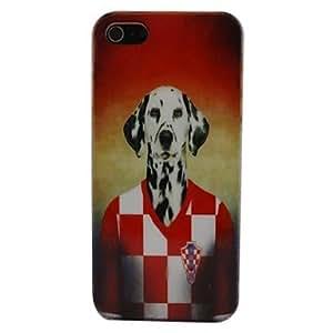 ZCL- caso del patrón del perro croacia pc para el iphone 5
