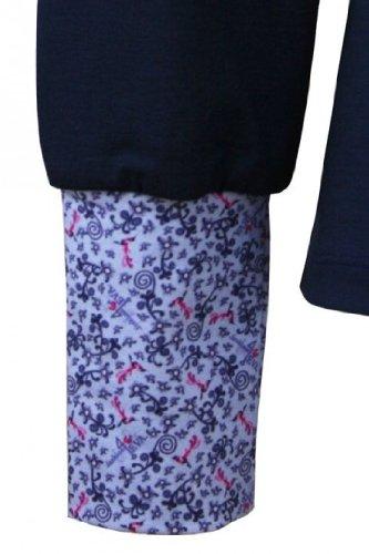 fashion4EVA Bubikragen-Langarmshirt marine