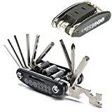 Plohee 16 in 1 Multi-Function Mountain Bike Bicycle Cycling Mechanic Repair Fix Tool Kit