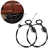 JUN-L 2PCS Recliner Replacement Cable D Ring Recliner Release Pull Handles, Exposed Cable Length 4.75 inch with S Tip for Ashley Sofa