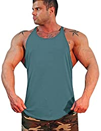 Mens Fashion Sport Beach Swimming Fitness Sexy Vest Slim Fit Muscle Shirt