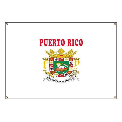 CafePress Puerto Rico Coat of Arms Designs Vinyl Banner, 44