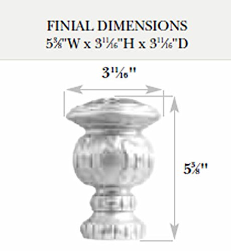Kirsch Wood Trends Classics Reign Finial, for 2'' pole, Coffee (MPN# 46805841) by Kirsch (Image #1)