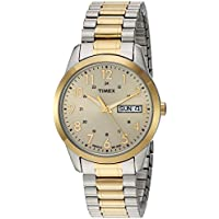Timex Men's TW2P67400 South Street Sport Two-Tone/Champagne Extra Long Stainless Steel Expansion Band Watch