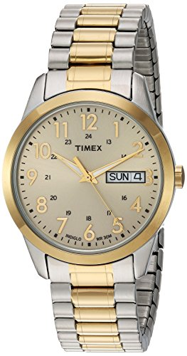 Timex Men's TW2P67400 South Street Sport Two-Tone/Champagne Extra Long Stainless Steel Expansion Band (Timex Stainless Steel Wrist Watch)