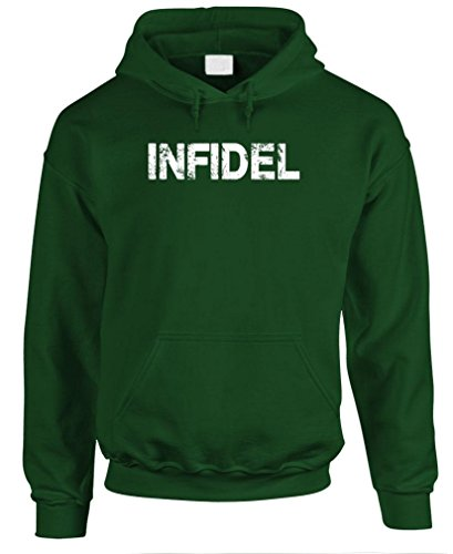 GRUNGE INFIDEL - us armed forces army - Mens Pullover Hoodie, S, Forest