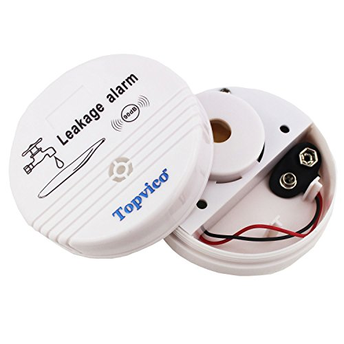 Topvico Water Leak Alarm Flood Sensor Detector 90dB Work Alone Home Security 3 Pack by topvico (Image #1)