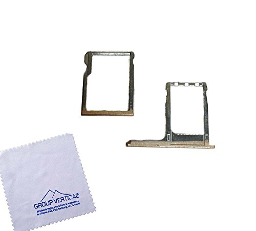 Group VerticalGold SIM Card Tray + Memory Card Reader Holder SD Card Tray Repair Replacement for HTC One M8 Droid