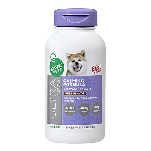 GNC Pets Ultra Mega Calming Formula – All Dogs – Beef Flavor 180 chewable