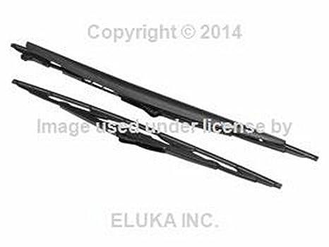 Juego de dos escobillas de limpiaparabrisas originales referencia 61619071613 (ver modelos de coche compatibles en