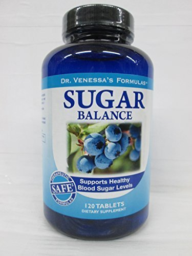 (Dr Venessas Formulas Sugar Balance Support - 120 Tablets, Pack of 6 by Dr. Venessa's)