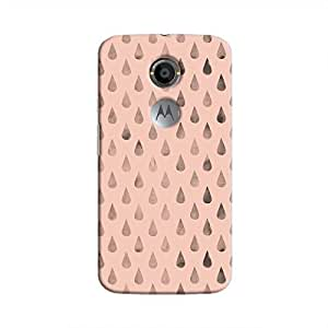 Cover It Up - Raindrops Pink Moto X2 Hard Case