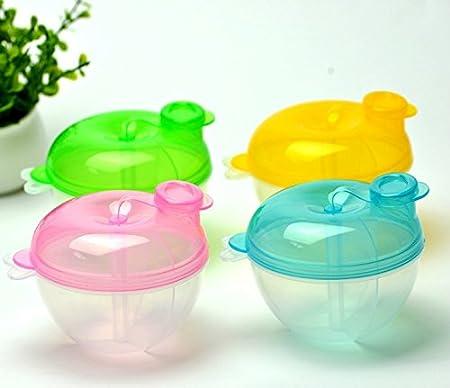 X-QUICKLY Milk Powder Feeding Box Portable Baby Infant Milk Powder Formula Dispenser Container Storage Feeding Box Blue
