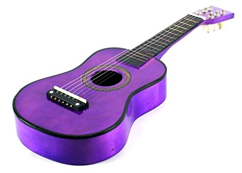 Acoustic-Classic-Rock-N-Roll-6-Stringed-Toy-Guitar-Musical-Instrument-w-Guitar-Pick-Extra-Guitar-String-Purple