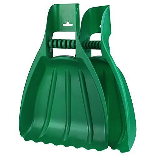 Large Leaf Scoops and Hand Rake Claw with Ergonomic Grip, Lightweight, Durable Garden Rake Grabbers for Fast Leaf and Lawn Grass Removal