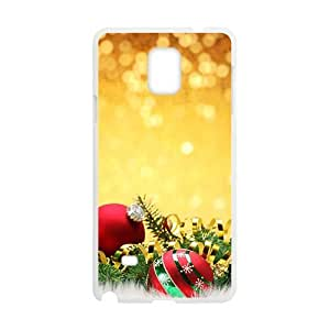 Colorful Dressed Balls White Phone Case for Diy For SamSung Note 4 Case Cover