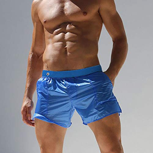 Pnfly Men's Surfing Shorts Casual Summer Beach Shorts Translucent Sexy Shorts