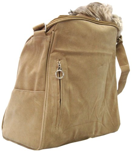 Suede Dog Carrier (Anima Tan Suede Sling Bag Carrier)