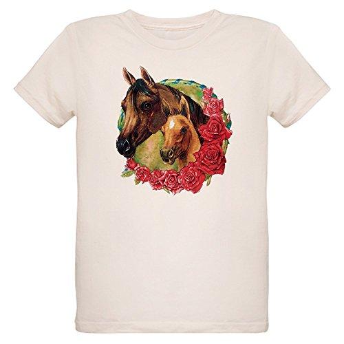 - Royal Lion Organic Kids T-Shirt Horses and Roses - Medium (10 Yrs)
