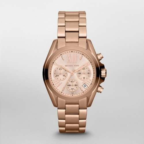 Michael Kors Women's Bradshaw Rose Gold-Tone Watch - Michael Kors Rose