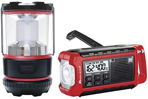 Midland – EL500VP, E Ready Emergency Kit – ER210 Emergency Compact Crank Weather AM FM Radio w SOS Emergency Flashlight, NOAA Weather Scan Alert ML500 Lumen LED Lantern