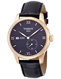 Tissot Men's Le Locle 38mm Black Leather Band Steel Case Automatic Analog Watch T006.428.36.058.00