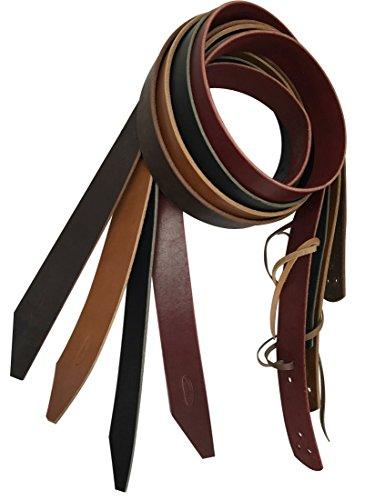 Buckaroo Saddle - Buckaroo Leather Products California Latigo Cinch Tie Strap (Black, 1 ¼ Inch)