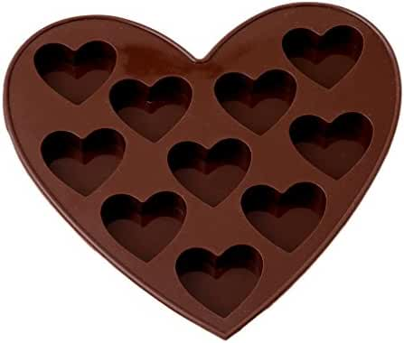 HENGSONG Silicone 10 Heart Cake Cookie Candy Mold Chocolate Mould Kitchen Tools Coffee