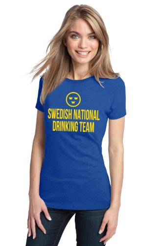 SWEDISH NATIONAL DRINKING TEAM Ladies' T-shirt / Funny Sweden Beer Tee