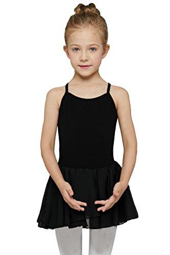 MdnMd Girls' Camisole Cotton Leotard Dress (2-4 / Toddler, Black)