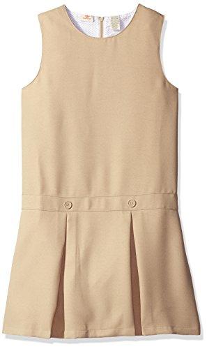 Dockers Big Girls' Uniform Pleated Jumper, Khaki, Large/12/14