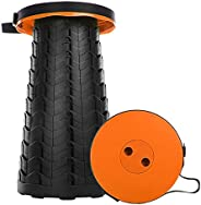 Telescopic Portable Stool, Camping Retractable Folding Stool for Fishing, Hiking, Travel, Queuing, Gardening M