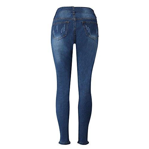 Skinny Femme Slim Jeans Long Jeans Bleu Pantalons OSYARD Pantalon Crayon Slim Dechir qFXXxp