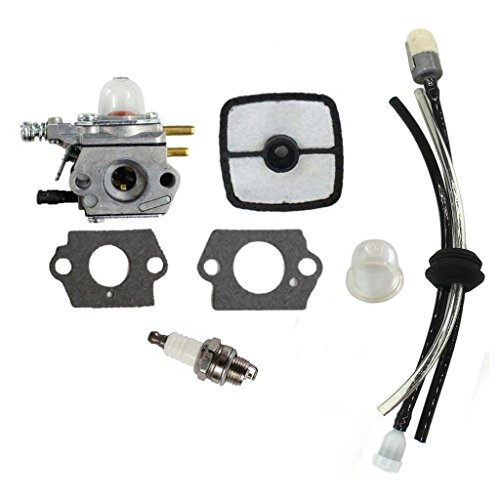 (HURI Carburetor with Air Filter Primer Bulb Spark Plug Fuel Line Kit for Zama C1U-K51 Echo HC-1500 HC-1600 HC-1800 HC-2000 HC-2400)