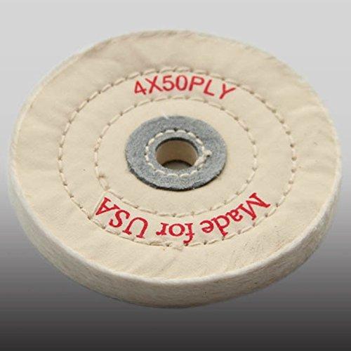 4 50 Ply White cloth Polishing Buffing Wheel Diameter 100mm